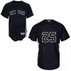 Mark Teixeira Jersey, New York Yankees #25 Stitched Replithentic Black Youth Jersey