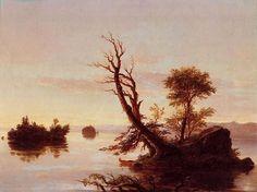 American Lake Scene by Thomas Cole, 1844