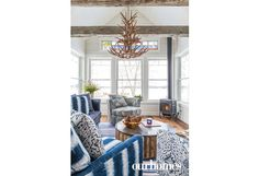 A treasured stained-glass window sits high above the Muskoka room where plenty of windows provide beautiful views of Lake Vernon in all seasons.  http://www.ourhomes.ca/articles/build/article/whitewashed-weekender-ripe-with-rustic-chandeliers