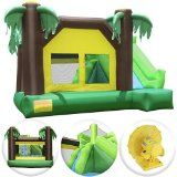Cloud 9 Jungle Jumper Bounce House – Inflatable Bouncing Jumper with Climbing Wall and Slide