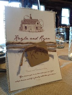 Rustic Wedding Invitation. $9.00, via Etsy.