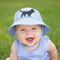 Black Lab Baby and Toddler Boys Blue Sun Hat #Melondipity