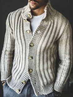 Shop Herren Pullover & Strickjacken on Beddinginn. We provide thoughtful service for your online shopping need. Casual Sweaters, Sweater Coats, Winter Sweaters, Men Sweater, Striped Sweaters, Oversized Sweaters, Men's Coats, Sweater Shop, Vintage Sweaters