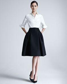 Carolina Herrera Silk Faille Party Skirt - Love!