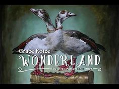 'WONDERLAND' is a solo exhibition of paintings and sculpture by Durban artist Grace Kotze , opening on Thursday 07 November  Fuelled by the book 'Ali. South African Artists, Wonderland, Sculpture, Gallery, Books, Movie Posters, Painting, Animals, Libros