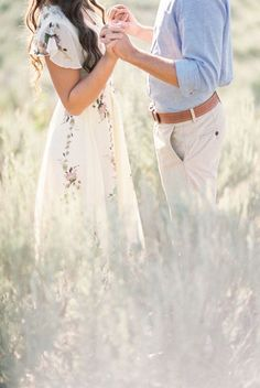 Engagement Photography Sweet puppy filled engagement session with a beautiful floral maxi dress Engagement Photo Outfits, Engagement Photo Inspiration, Engagement Couple, Engagement Shoots, Wedding Engagement, Wedding Inspiration, Country Engagement, Field Engagement Photos, Winter Engagement