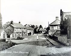 1920s West Harptree, North East Somerset | by brizzle born and bred Domesday Book, Local History, Old English, Somerset, 1920s, Fields, Medieval, Old Things, Street
