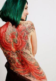tatouage Phénix Japonais