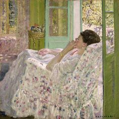 Frederick Carl Frieseke Afternoon Yellow Room, 1910 Oil on canvas Indianapolis Museum of Art Henri Matisse, Pierre Auguste Cot, Pierre Bonnard, Indianapolis Museum, American Impressionism, Impressionism Art, Art Chinois, Google Art Project, Art En Ligne
