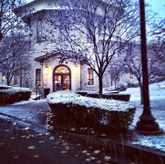 Providence College in the snow!