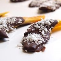 chocolate covered mango with coconut