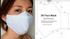 Easy Face Masks, Diy Face Mask, Sewing Hacks, Sewing Tutorials, Mascara 3d, One Skein Crochet, Fair Isle Knitting Patterns, 3d Face, Diy Crafts Hacks