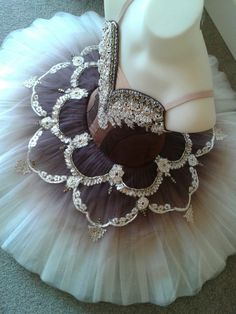Tutu by Margaret Shore - chocolate brown, cream, and gold