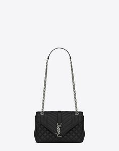 SAINT LAURENT CLASSIC MEDIUM SOFT ENVELOPE MONOGRAM SAINT LAURENT IN BLACK LEATHER | YSL.COM