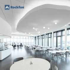 With Rockfon acoustic ceilings you can boost your productivity and be creative without getting distracted. How? With noise reduction and optimal light diffusion. If you want to know more follow the link and get inspired by our unique products! #soundsbeautiful #office #interiordesign #modernceilings #ceilingdesign #modernoffice #designideas #designinspiration Office Ceiling, Acoustic Design, Sound Absorbing, Office Environment, Noise Reduction, Unique Products, Ceiling Design, Ceilings, Offices