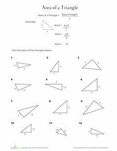 area of a triangle worksheets 7th grade triangle area sheet 2 sheet 2 answers school math. Black Bedroom Furniture Sets. Home Design Ideas