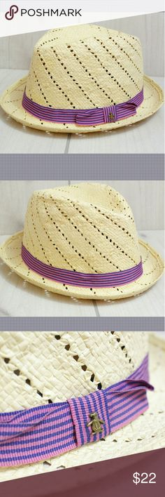 """Penguin Casual Pink Fedora Summer Hat Size L/XL Men's Casual Summer Fedora Pink Band by Penguin for Munsingwear  100% Straw  Size L/XL suitable for head circumference 23-23.5""""  GT2 Penguin Accessories Hats"""