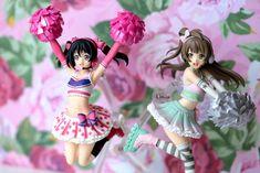 and FigFIX Love Live! Madoka Magica, Happy Girls, Cheerleading, Kawaii, Kitty, Anime, Kitten, Kitty Cats, Anime Shows