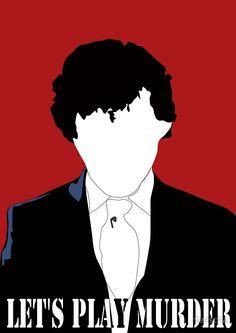 BBC Sherlock: Let's Play Murder Silhouette bloodred