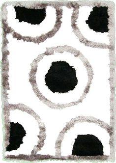Ivory Multi-Tone Shag  Area Rug