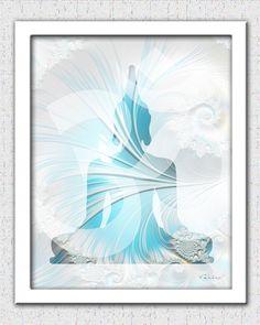 Buddha print soft colors pastels Buddha art by theartofthematrix