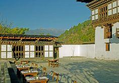Breakfast in the courtyard at Amankora Punakha, Bhutan