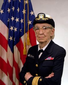 Commodore Grace M. Hopper, USN (covered). Smart lady