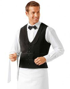 Garros Male Bar Vest - Restaurant Uniforms - Uniforms - Chef Coats by Bragard USA Waitress Outfit, Waiter Uniform, Hotel Uniform, Restaurant Uniforms, Guys And Dolls, Uniform Design, Nursing Clothes, Lady And The Tramp, Sports Uniforms