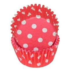 Red Polka Dot Cupcake Liners STD 50 count * To view further for this item, visit the image link.