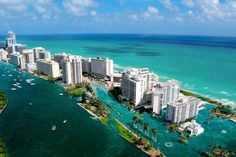 """Miami is """"ground zero"""" when the polar ice caps melt. As global warming continues, the ice caps will disappear — sending a flood of water into the ocean. Sea levels will rise, and Miami is set to disappear as the ocean rises."""