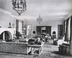 Syrie Maugham's living room in Le Touquet, France