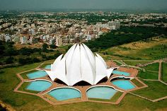 Lotus temple : Bahai House of Worship.  Delhi