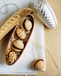 Walnut Cookies by marthastewart #Christmas_Cookies #Walnut