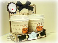 A hot chocolate cup holder. by scrappedon - Cards and Paper Crafts at Splitcoaststampers
