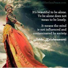 Being alone is wonderful c: