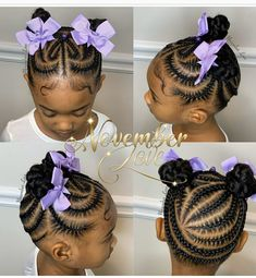 Children's Braids and Beads! Booking Link In Bio! Little Girls Natural Hairstyles, Little Girl Braid Hairstyles, Baby Girl Hairstyles, Natural Hairstyles For Kids, Kids Braided Hairstyles, Black Girls Hairstyles, Little Black Girls Braids, Black Girl Braids, Kids Braids With Beads