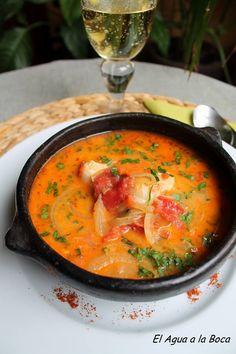 Caldillo de congrio, gastronomia chilena, cocina de chile