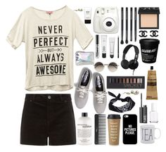 """""""Never Perfect but always awesome!"""" by outfitsbyamalia ❤ liked on Polyvore featuring Mode, Wet Seal, philosophy, Sephora Collection, Keds, Kate Spade, Casetify, NARS Cosmetics, Japonesque und ASOS"""