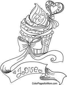 Hearts 10 Coloring Page