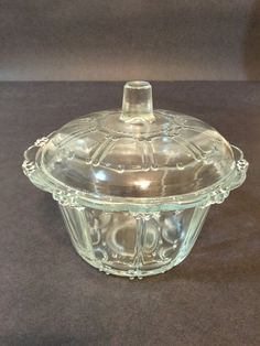 Hey, I found this really awesome Etsy listing at https://www.etsy.com/ca/listing/474540867/glass-lidded-dish-depression-glass