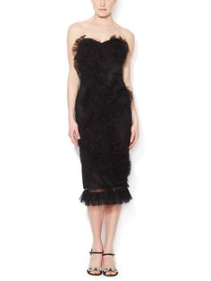 Strapless Tulle Cocktail Dress by Marchesa at Gilt
