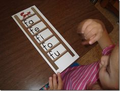 Letter of the week blending ladders. Can add ending sound to blend words! Cute!