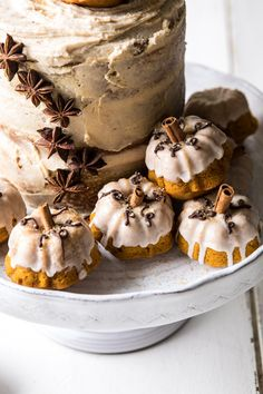 Chai Pumpkin Cake with Maple Browned Butter Frosting | halfbakedharvest.com #pumpkin #chai #fall #autumn #thanksgiving