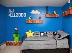 If you are passionate about game, it's time to remodel your regular room into a video game room. Check out these amazing video game room ideas! Gamer Bedroom, Bedroom Games, Kids Bedroom, Bedroom Apartment, Apartment Therapy, Bedroom Ideas, Video Game Bedroom, Video Game Rooms, Video Games