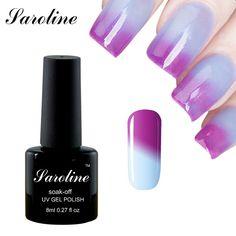 Saroline glück skyblue Farbwechsel Gelpoliermittel UV/LED Lampe Farbige Temperatur Polnischen Nail Chameleonic Farbe Mantel billig