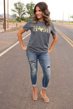 Pick Your State HOME Shirt in GOLD | Jane