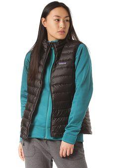 Patagonia Down - Weste für Damen - Schwarz - Planet Sports Patagonia Down, Sport, Vest, Products, Fashion, Amazing, Jackets, Black, Moda