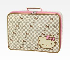 dacb8d80b6 Hello Kitty Rolling Briefcase  Checkered in Bags Travel + Accessories  Luggage + Tags at Sanrio