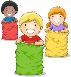 Sunday School Kids, Sunday School Crafts, Fun Games For Kids, Art For Kids, Sack Race, Bible Games, School Photos, Royalty Free Clipart, Courses