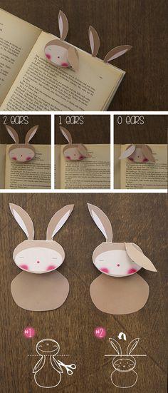 hasen lesezeichen bunny rabbit conejo bookmark marca paginas free printable download gratis imprimir drucken